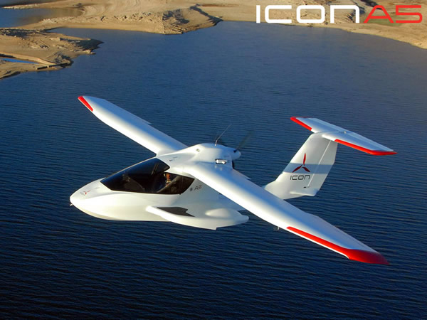 ICON Aircraft A5 Amphibious Light Sport Airplane In The Air